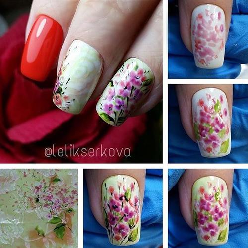 маникюр к 8 марта фото с цветами