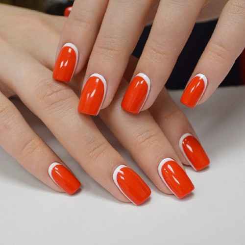 white and red nail design for special occasions