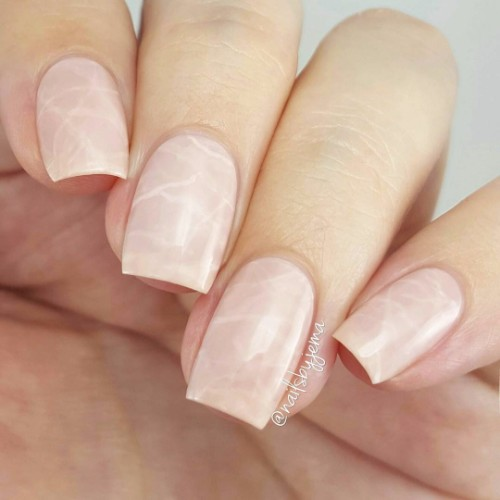 pink-marble-nails-for-prom