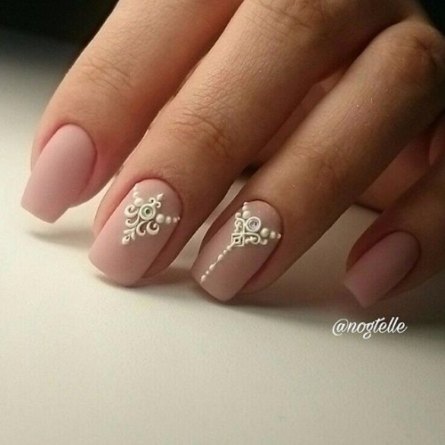 tattoed nail design