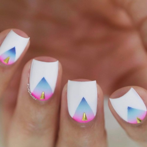white school nails