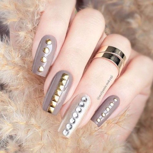 nude punk rock nails
