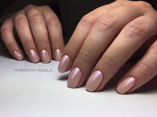 classy nude nails for prom party