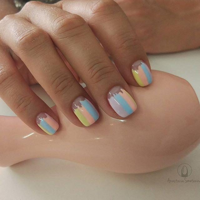 дизайн ногтей заборчики