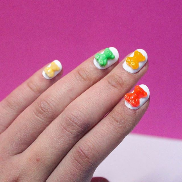 gummy bears nail design