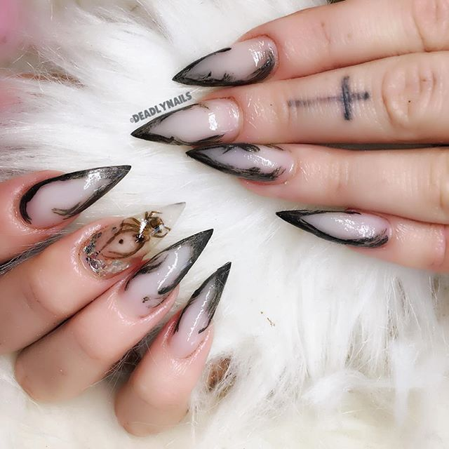 manicure with real spider
