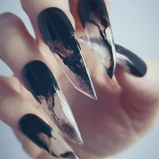 inked see through nail design trend