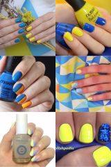 синьо-жовтий манікюр на День незалежності