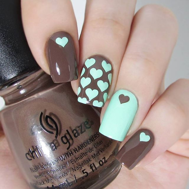 hearts fall nails