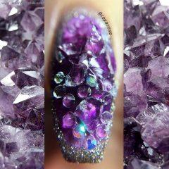 маникюр с кристаллами