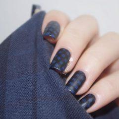темно серые осенние ногти