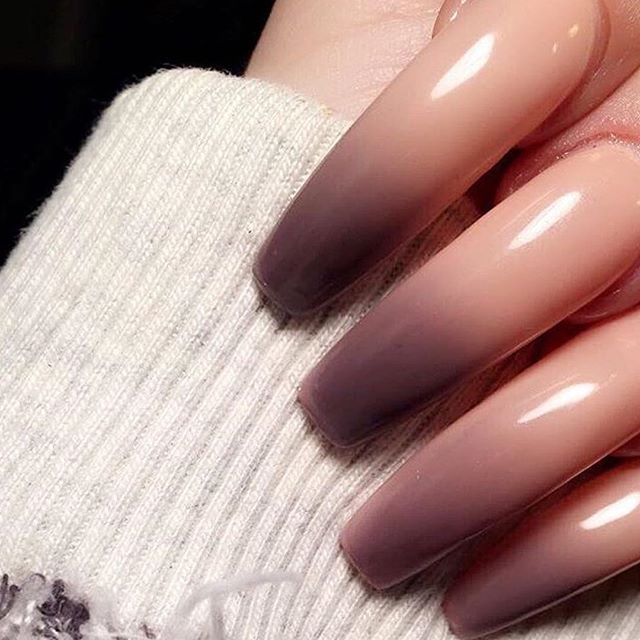 ombre fall nail trend