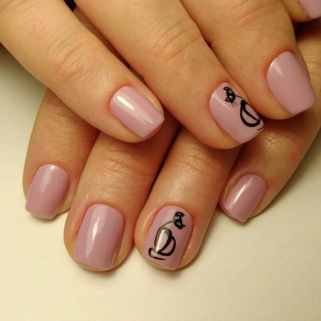 nude cat nails