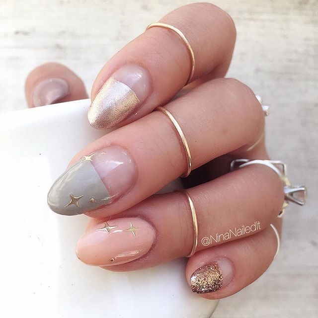 light fall nail design