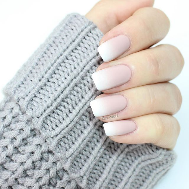 nude ombre fall manicure