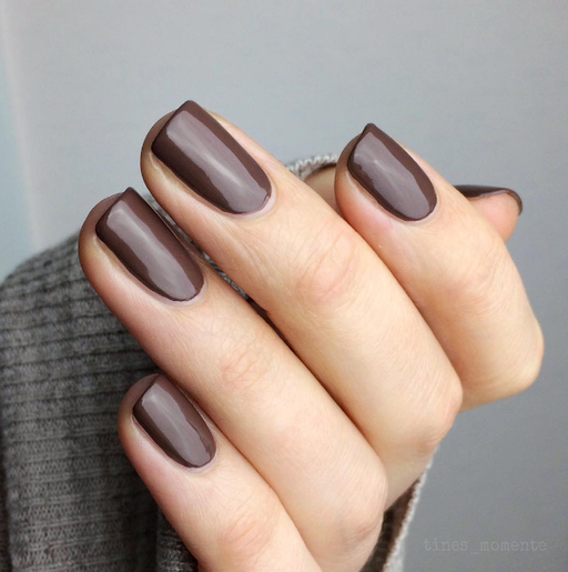 dark brown fall nails