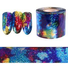 синяя фольга для ногтей