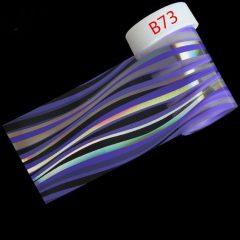 голубая полосатая фольга для ногтей