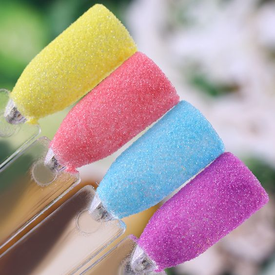 разноцветный сахарный песок для ногтей