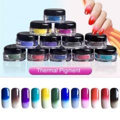 пигмент для ногтей цвет зависит от температуры