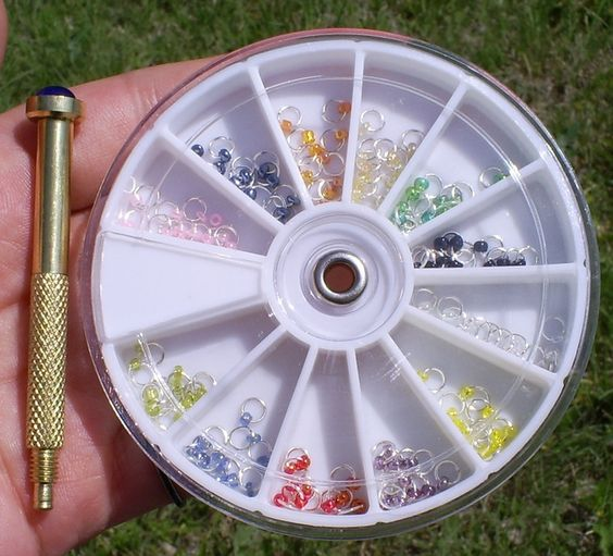 пирсинг для ногтей кольца
