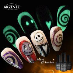 маникюр на хэллоуин светящийся в темноте