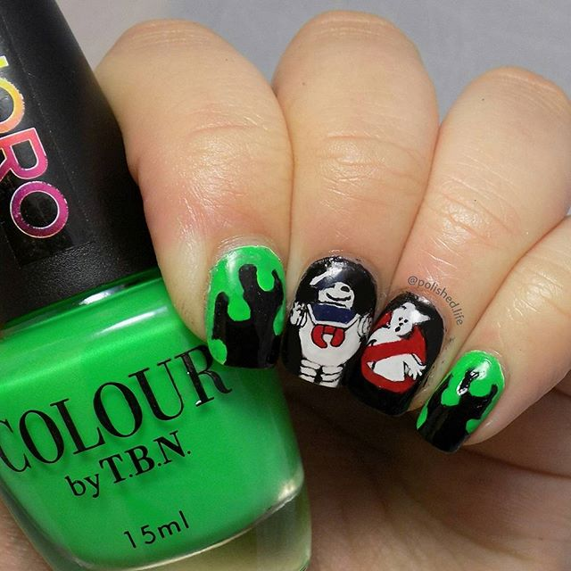 ghostbusters nail design