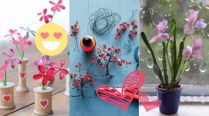 цветы из засохшего лака для ногтей