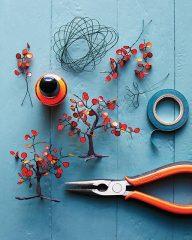 хендмейд дерево бонсай из проволоки и лака для ногтей