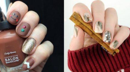 Маникюр  с пряничным человечком: самые прикольные ногти на Рождество!