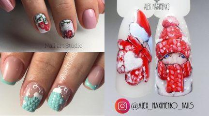 """Самый """"теплый"""" зимний маникюр: дизайн ногтей с варежками!"""