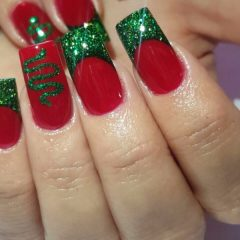Красно-зеленый новогодний френч