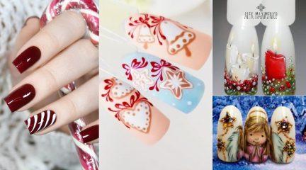 Маникюр на Рождество: 100 стильных вариантов