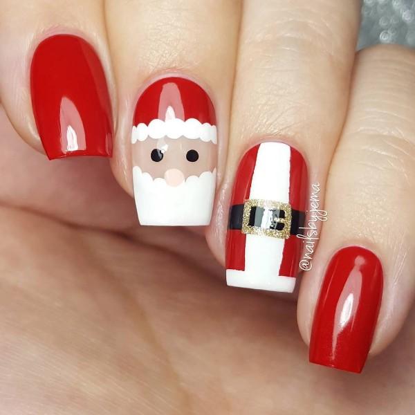 маникюр Санта-Клаус