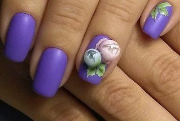 фиолетовый-матовый-маникюр-candy-ball