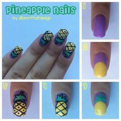 мк-как-рисовать-ананас-на-ногтях