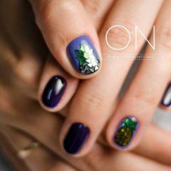 фиолетовые-ногти-ананасы