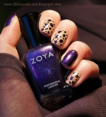 блестящий-фиолетовый-леопардовый-маникюр