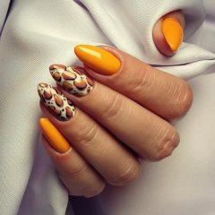 желтый-леопардовый-маникюр