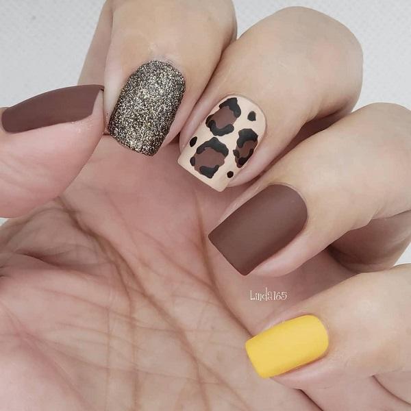 коричнево-желтые-леопардовые-ногти