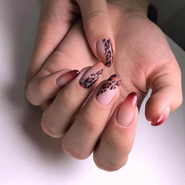 леопардовый-маникюр-омбре