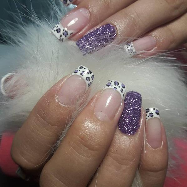леопардовый-маникюр-френч