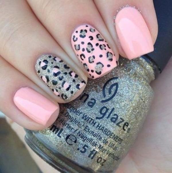 серебряный-леопардовый-маникюр