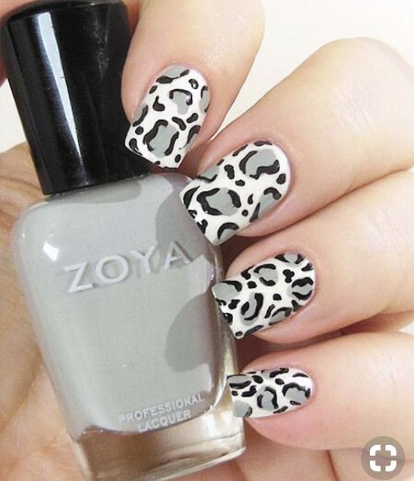 серый-леопардовый-маникюр