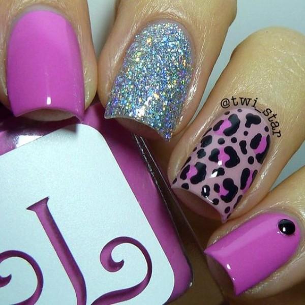 сиреневый-лиловый-леопардовый-маникюр