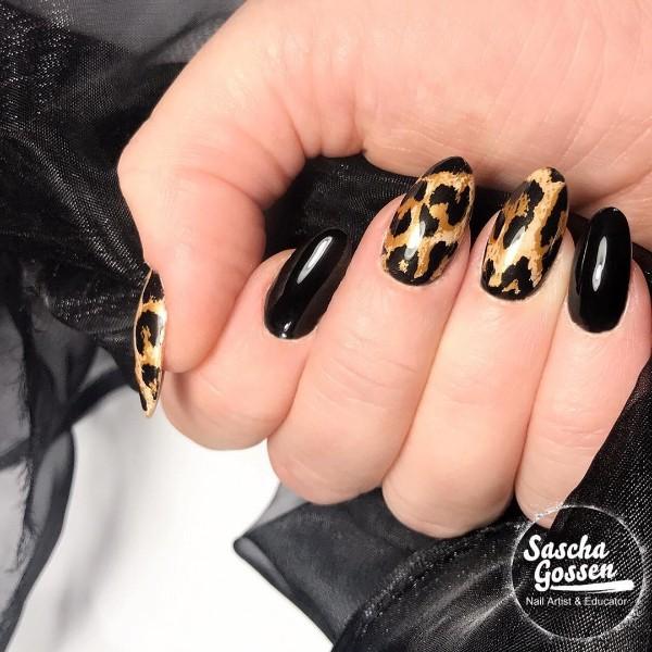 черный-леопардовый-маникюр