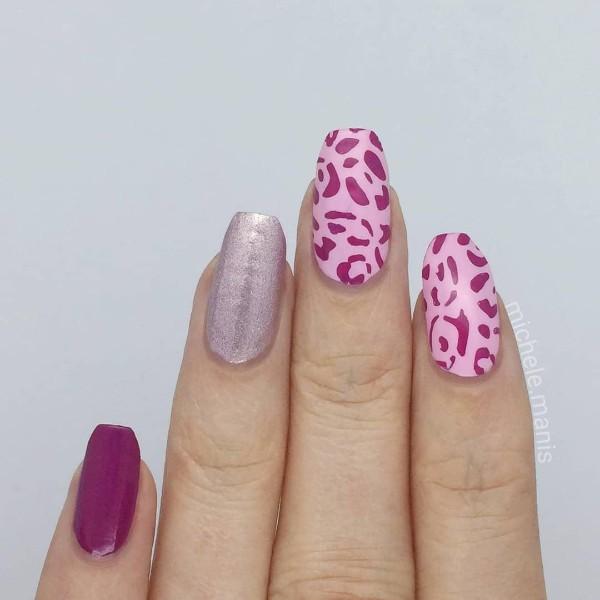 розовый-леопардовый-маникюр