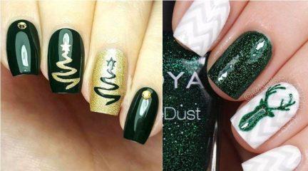 Зеленый новогодний маникюр, который захочется носить все зимние праздники!