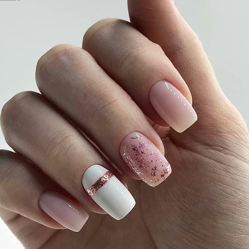 Белые Ногти Дизайн 2019