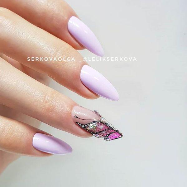 форма ногтя крылья бабочки
